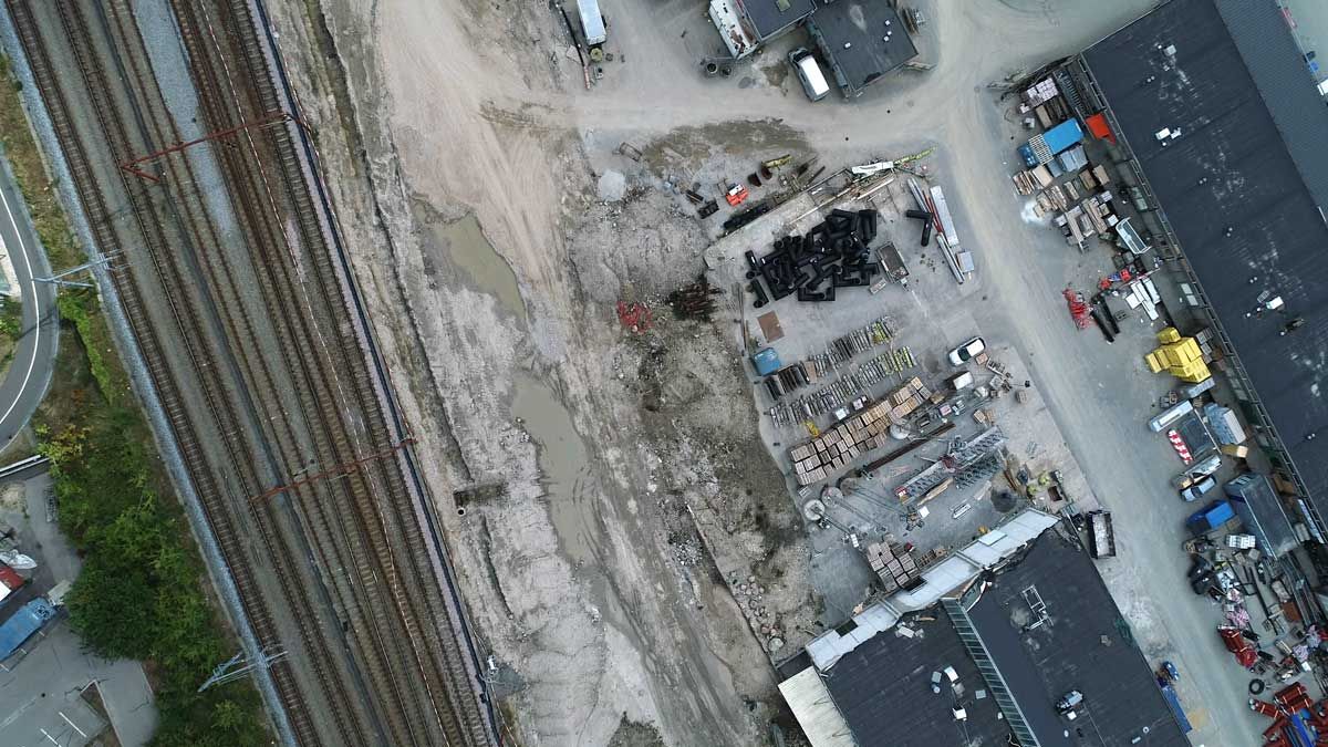 Droneinspektion byggeplads